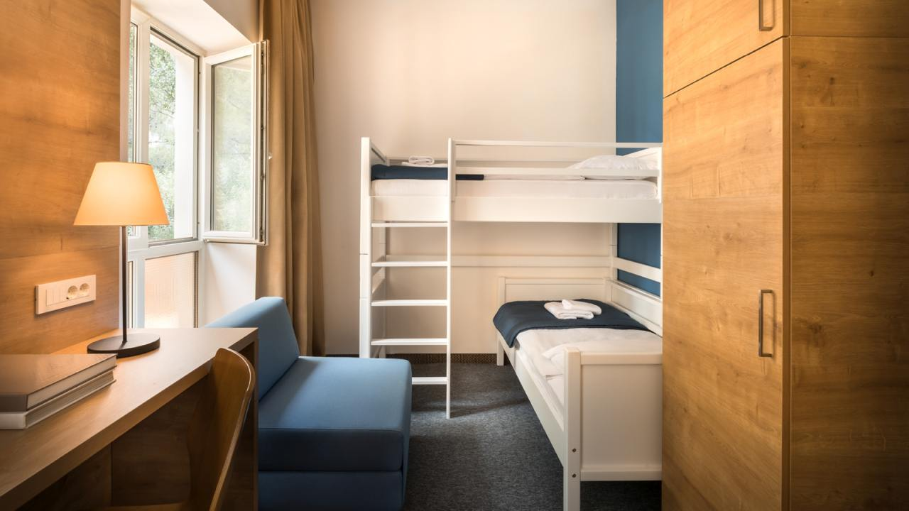 Double bed or twin beds, additional bed bathroom.